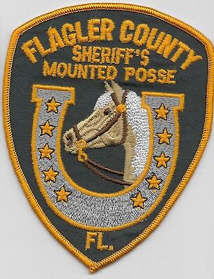Flagler County Sheriff Mounted Unit Old style State Florida FL