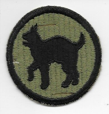 "WWII GEMSCO ""RIDDED WEAVE"" 81st INFANTRY DIVISION PATCH"