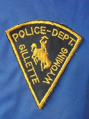 """4 12"""" Gillette, Wyoming (2nd Issue Cheesecloth) Police sheriff Patch WY"""