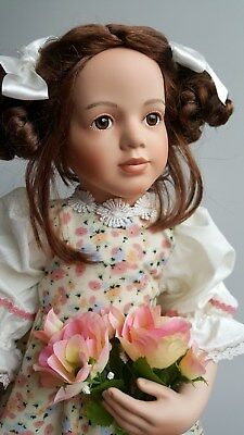 "VERA SCHOLZ Porcelain Doll 'NATALIE' 24""  Paradise Galleries NEW in Box & COA"