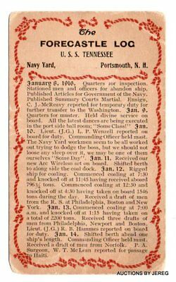 The Forecastle Log U.s.s. Tennessee  Portsmouth, Nh  Januray 8,1916
