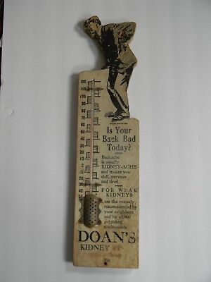 Vintage/ Antique Doan's Kidney Pills Thermometer