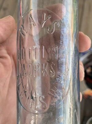 Vintage Ss Rays Bottling Works Soda Pop Bottle Elkins West Virginia