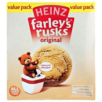 Heinz All Ages 4-6 Months Onwards Farley's Rusks Original Value Pack 300g