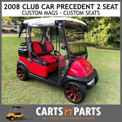 Club Car Precedent Golf Cart Buggy Red 2 Seat 2008