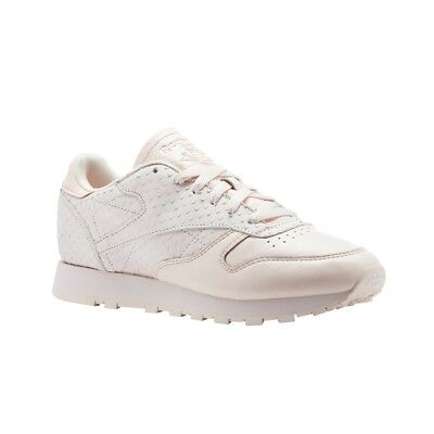 413227a6887da REEBOK CLASSIC LEATHER Shimmer Pale Pink Chalk Women s Running Shoes ...