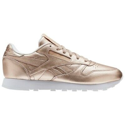 5c3513c7d0909d Reebok Classic Leather Melted Metal (PEARL MET-PEACH WHITE) Women s Shoes  BS7897