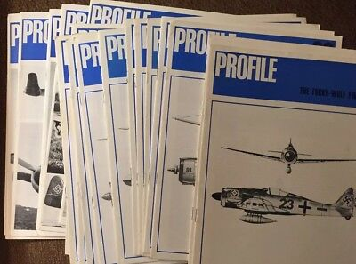 Lot Of 21 Profile Model Airplane Magazine