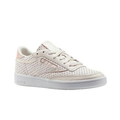 d3d65c5ddb8 REEBOK CLUB C 85 Popped Perf (PALE PINK CHALK PINK WHIT) Women s ...