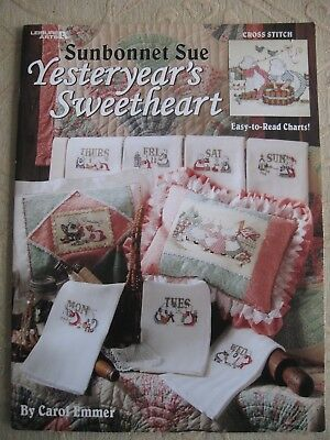 SUNBONNET SUE Yesteryear's Sweetheart counted cross stitch pattern booklet