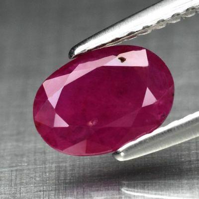 0.84ct 7.6x5.6mm Oval Natural Red Ruby, Mozambique *Only Heated No Glass