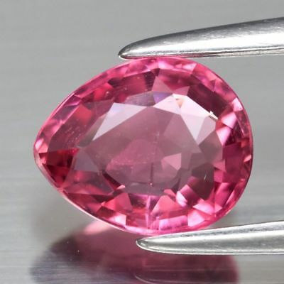 0.79ct 6.8x5.7mm Pear Natural Unheated Pink Tourmaline