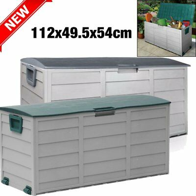 79 gallon Deck Box Large Chest Outdoor Container Garden Patio Pool Yard Storage