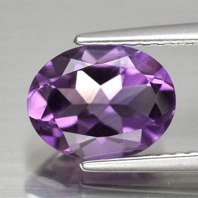 VS 1.62ct 9x7mm Oval Natural Unheated Purple Amethyst