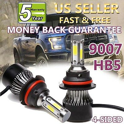 9007 LED Headlight Bulbs For Ford F-150 1992-1998 High Low Beam 1800W 270000LM