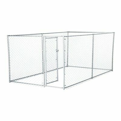 Lucky Dog 2-in-1 Size Galvanized Steel Chain Link Kennel - CL 41028EZ, Beige