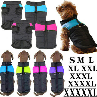 Pet Dog Puppy Warm Insulated Padded Coat Vest Thick Winter Jacket Clothes Jumper