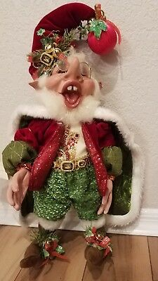 collectible Mark Roberts Holly and Ivy elf size medium