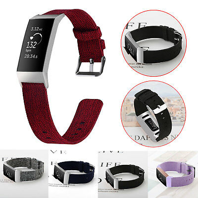 Nylon Woven Fabric Watch Band Strap Wristband Bracelet for Fitbit Charge 3 New