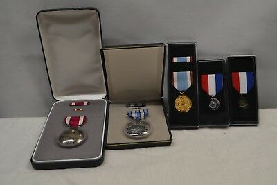 Lot of 5 Medals US Air Force Meritorious Achievement Service ROTC DAR b18