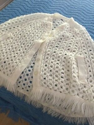 Vintage Crochet Poncho Made In Japan By Fresca