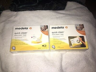 Medela Quick Clean Micro Steam Bags 5 Count 2 Boxes