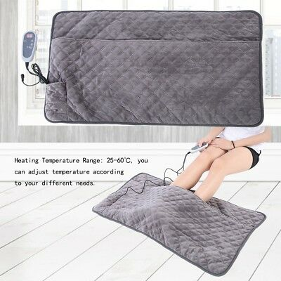 Electric Therapy Heating Pad Relieve Body Stress Heat Warming Double Blanket Mat