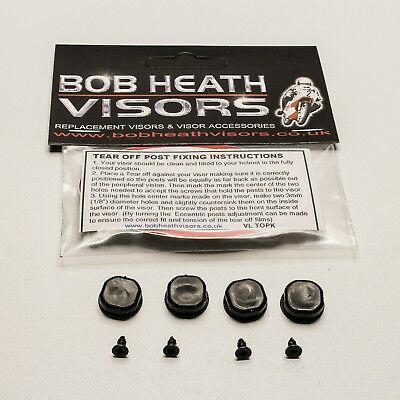 Visor,tear Offs,rip Offs,fixing Posts +Screws Kit - Bob Heath Visors
