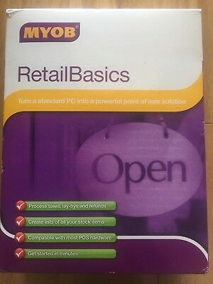Brand New Myob RetailBasics v 3.3 Retail POS Point of Sale Software