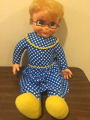 Vintage Mrs. Beasley Doll With Glasses  Mute Non Talking From Family Affair