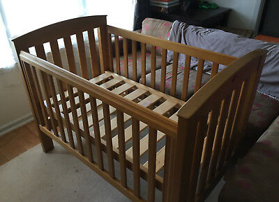 Boori Country Collection Convertible Cot / Toddler Bed Oak