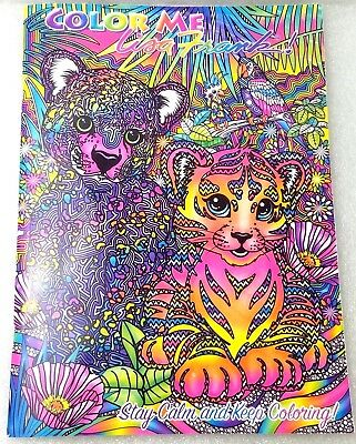 LISA FRANK ADULT Coloring Book Puppy Kitten Color Me Stay Calm ...