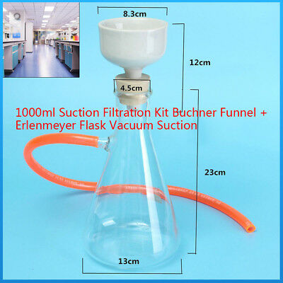 1000ml Buchner Funnel Apparatus, Filting Funnel Kit for Vacuum Suction Filter US
