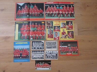 LIVERPOOL - Bundle of Football Team Posters - 1960s/1970s