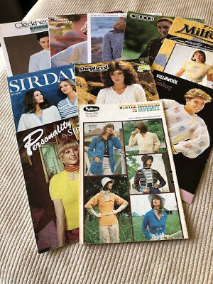 Assortment of 10 Womens Knitting Pattern Books - 24 patterns in total