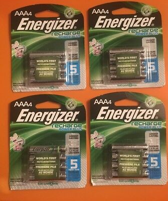 16 AAA Energizer Rechargeable Power Plus Batteries