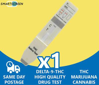 THC Saliva Drug Testing Kit for Drug Test of THC, CANNABIS, MARIJUANA Drug Test