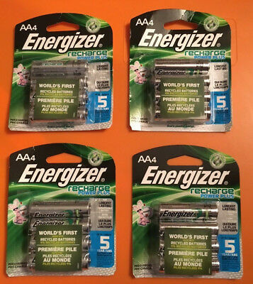 LOT (16) ENERGIZER AA RECHARGEABLE Batteries POWER PLUS four 4 packs total NEW!