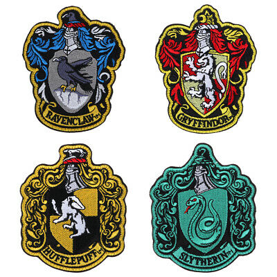Hot Harry Potter Hogwarts Crest Embroidered Patch Applique Badge Iron Sew On