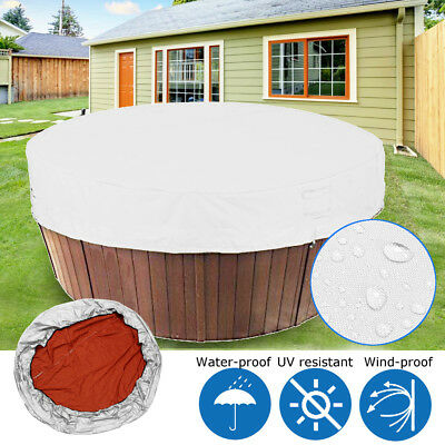 Hot Tub Spa Top Weather Cover Round Durable UV proof Protector Light Grey 4 Size