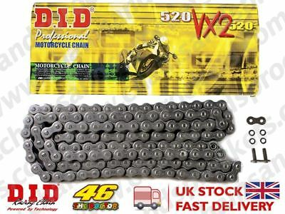 DID Heavy Duty X-Ring Motorcycle Chain 520VX2 Pitch 104 Links w/ Rivet Link