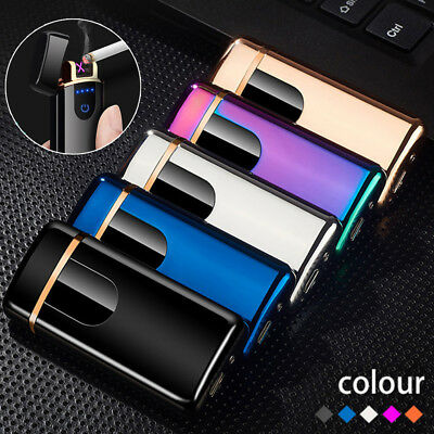 USB Rechargeable Double Arc Plasma Torch Electric Flameless Windproof Lighter
