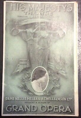 1924 HIS MAJESTY'S THEATRE programme ANDREA CHENIER - 44 pps - ads for Melbourne