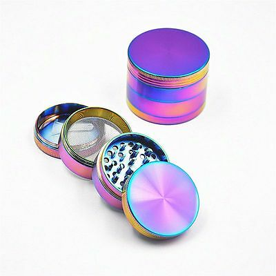 55mm Tobacco Herb Spice Grinder 4 Piece Herbal Alloy Smoke Metal Rainbow Crusher