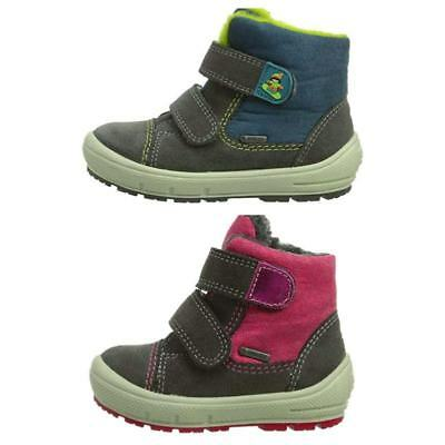 Superfit Kids Boys Girls Fleece Lined Warm Snow Ankle Boots Arctic Gore Tex Shoe