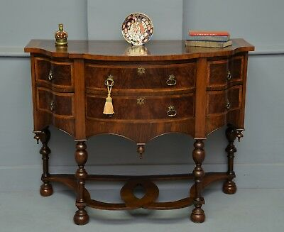 Fine Quality William & Mary Small Sideboard Table Chest On Stand