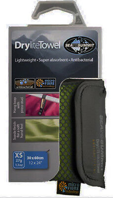 Sea to Summit Super Absorbent Fast Drying Microfibre DRYLITE TOWEL XS Eucalyptus