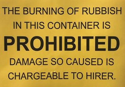 Skip Safety Signs-Signage-waste Container-bin-skip-REL-FEL-OPEN-Builders-Meiller