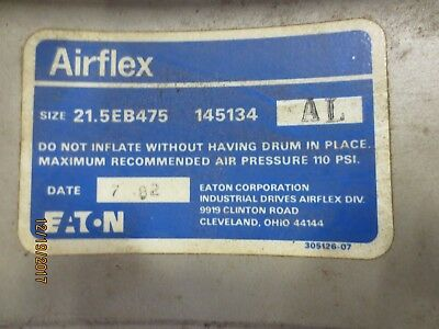 Eaton Airflex EB series 21.5 air brake clutch diaphragm, no drum, oilfield