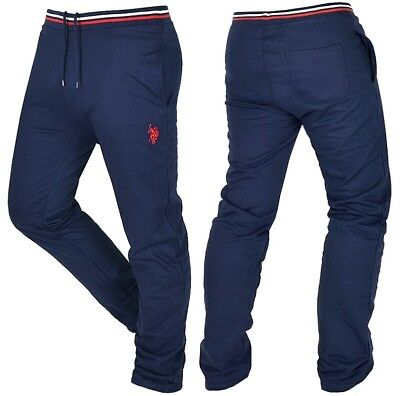 US POLO Herren Jogginghose Sweat Hose Slim Fit Pant Men Lauren blau dark  navy 64948f248ab8
